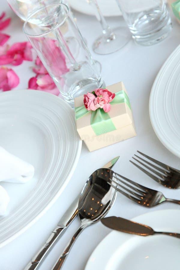 Süßigkeitskasten an der Hochzeit stockfoto