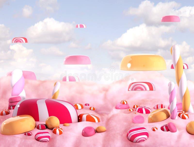 Süßigkeitslandbonbons stock abbildung