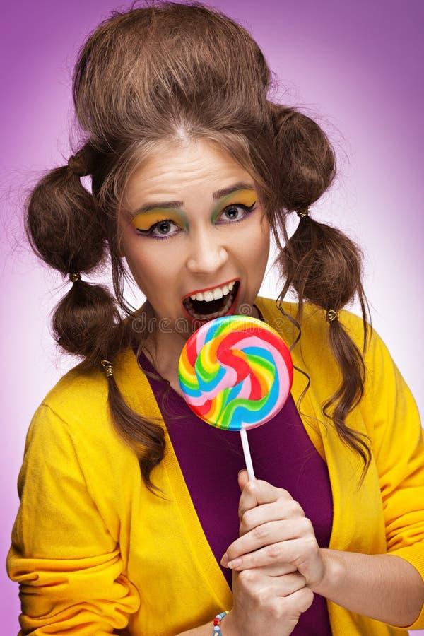 Süßigkeitsliebhaber stockbild