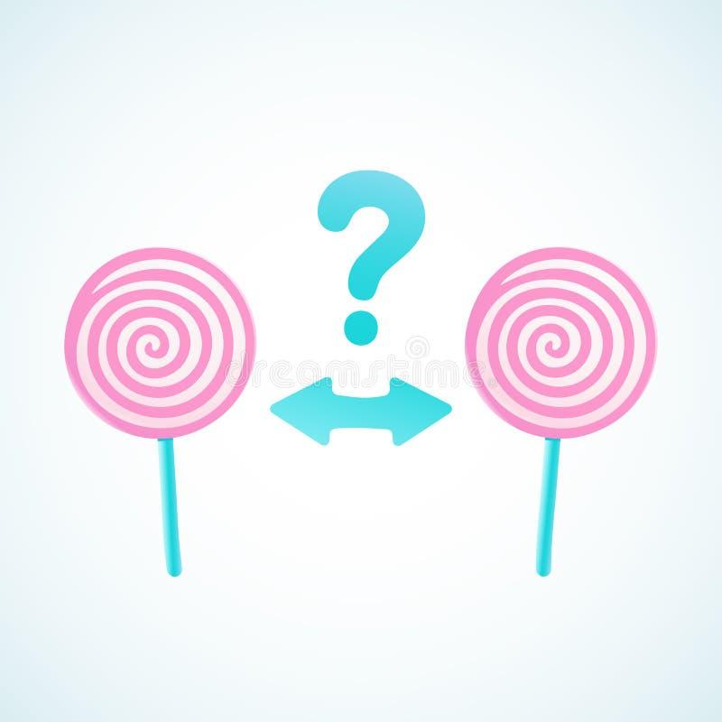 Süßigkeitswahl stock abbildung