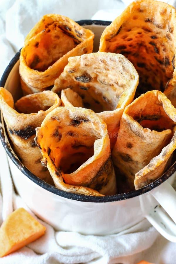 Süßkartoffel Flatbread stockfotos