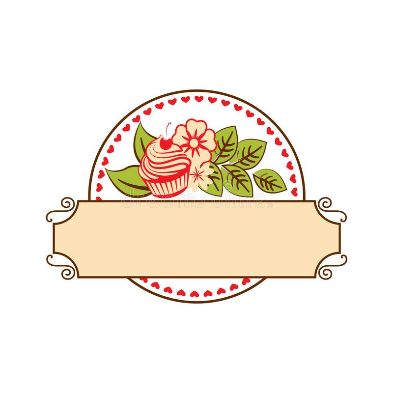 Süßwarengeschäftlogoschablonen-Entwurfsvektor stock abbildung
