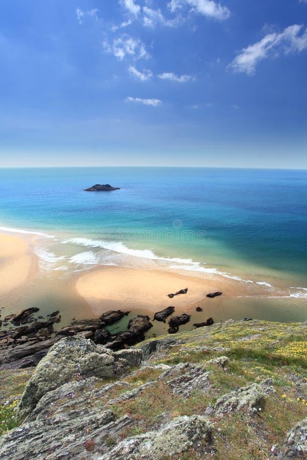 Süd-Devon Coastline England lizenzfreies stockbild