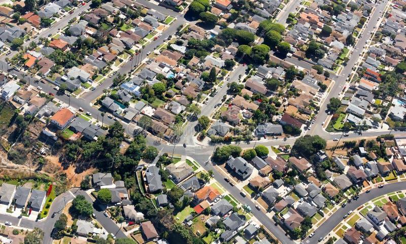 Süd-Kalifornien-Vororte stockfoto