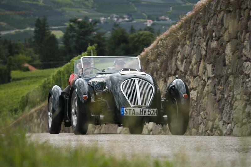 Süd-Tirol-Oldtimer 2014_ Austin Silverstone Special Roadste lizenzfreies stockfoto