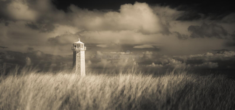 Süd-Walney-Leuchtturm mono stockbild