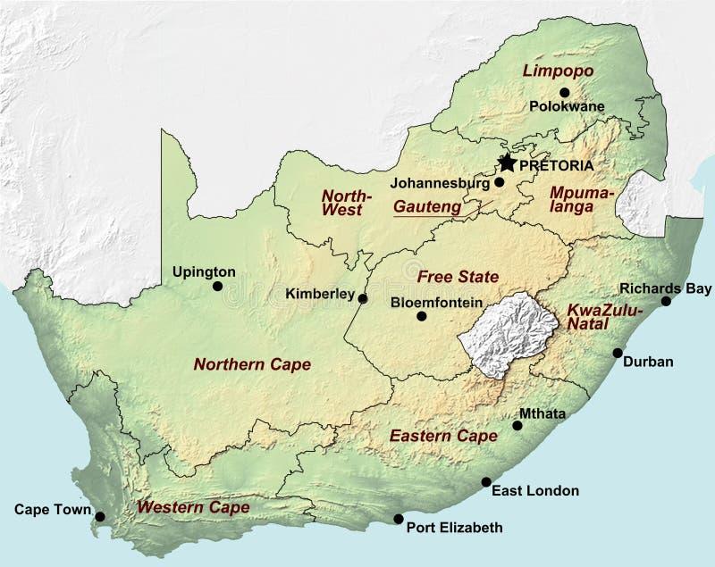 Südafrika-Karte stock abbildung