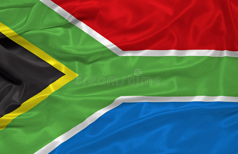 Südafrika-Markierungsfahne   stock abbildung