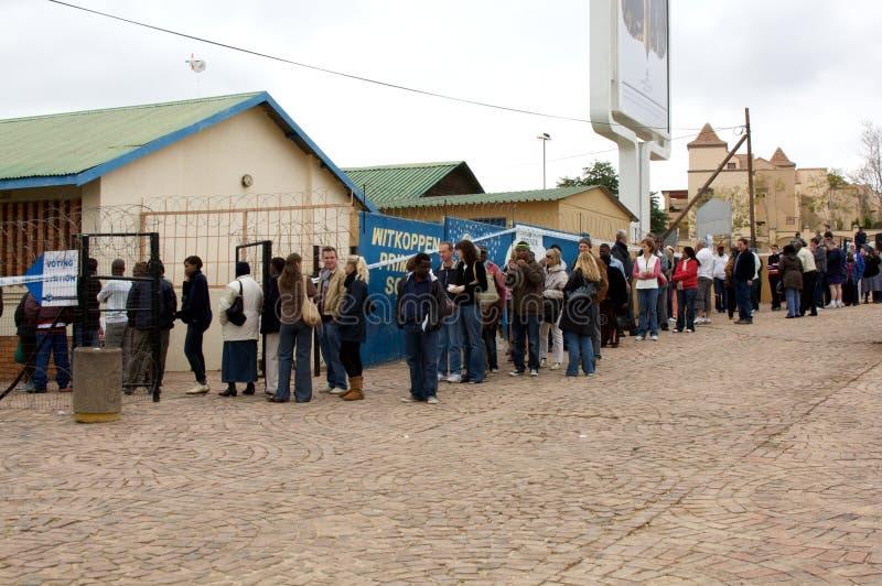 Südafrika-Parlamentswahlen 2009 stockbild