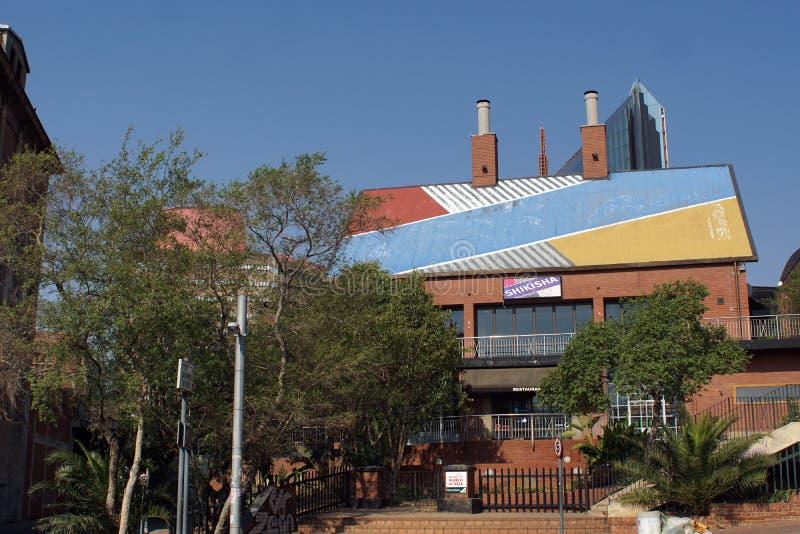 Südafrikanische Brauerei in Newtown, Johannesburg lizenzfreie stockfotos