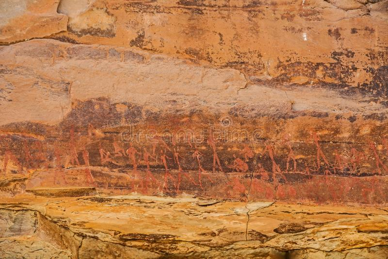 Südafrikanische Buschmann-Felsen-Kunst 14 lizenzfreies stockfoto