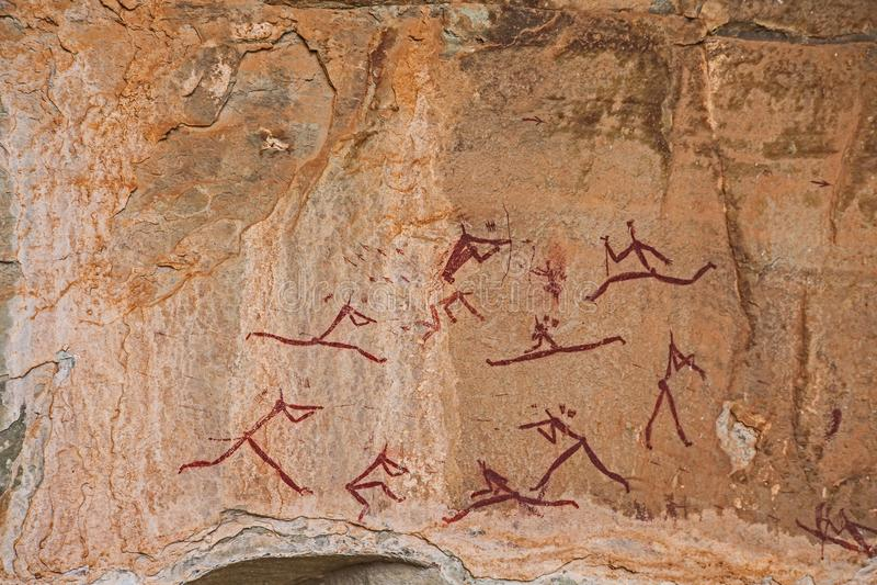 Südafrikanische Buschmann-Felsen-Kunst 8 lizenzfreie stockbilder