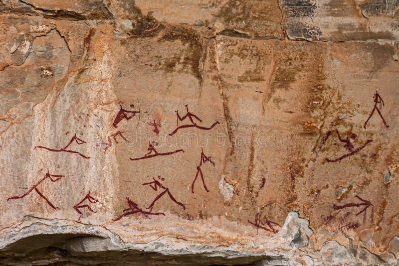 Südafrikanische Buschmann-Felsen-Kunst 9 lizenzfreie stockbilder