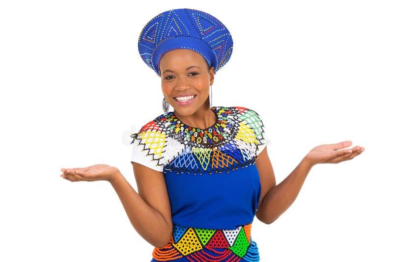 Südafrikanische Frau stockbilder