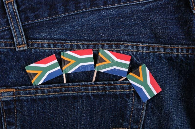 Südafrikanische Markierungsfahnen. stockbild