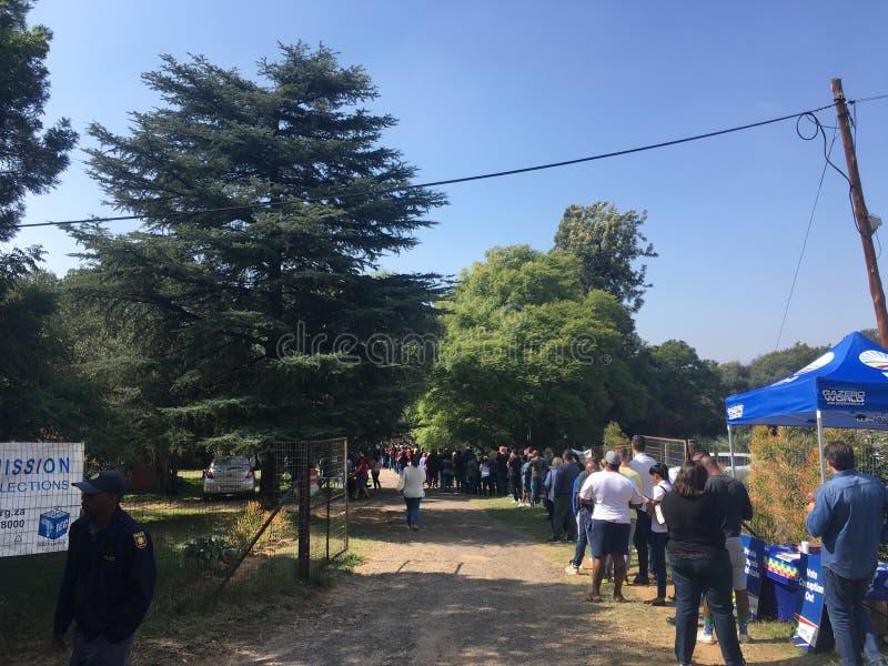 Südafrikanische 2019 Wahlen lizenzfreie stockbilder