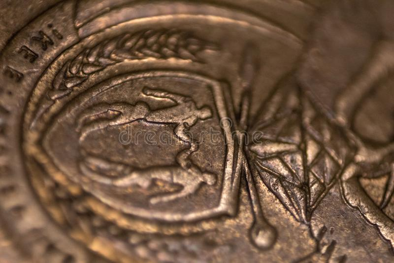 Südafrikanischer Abschluss herauf Münze, Symbol von Südafrika lizenzfreies stockfoto