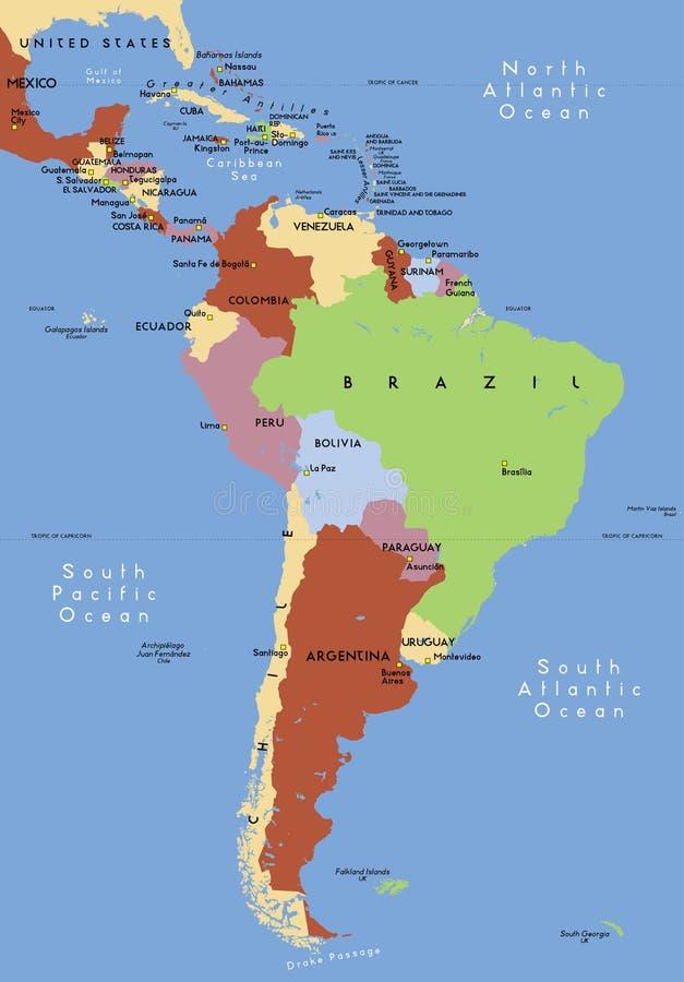 Südamerika. lizenzfreie abbildung