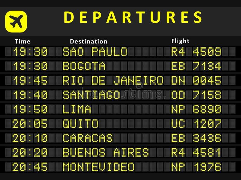 Südamerika-Abfahrt vektor abbildung