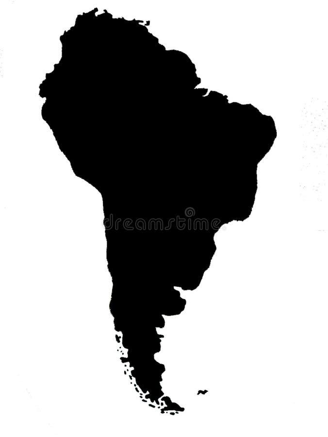 Südamerika-blinde Karte lizenzfreie abbildung