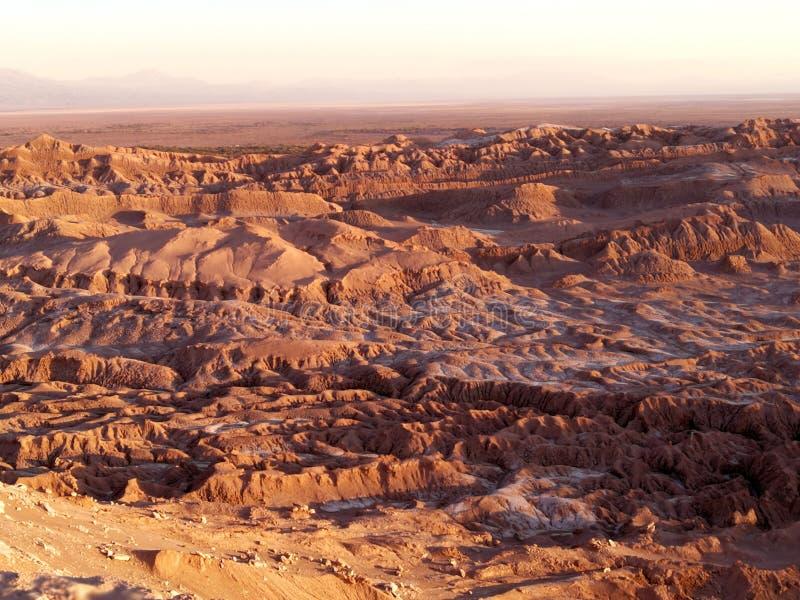 Südamerika Chile Mondtal Atacama Wüste Valle de la Luna Sunset Geology Wonder Geographie Rocky Earth Soil Nature Landschaft lizenzfreie stockfotografie