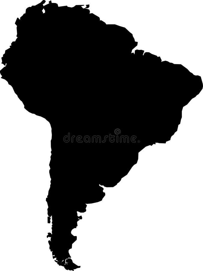 Südamerika-Schattenbild vektor abbildung