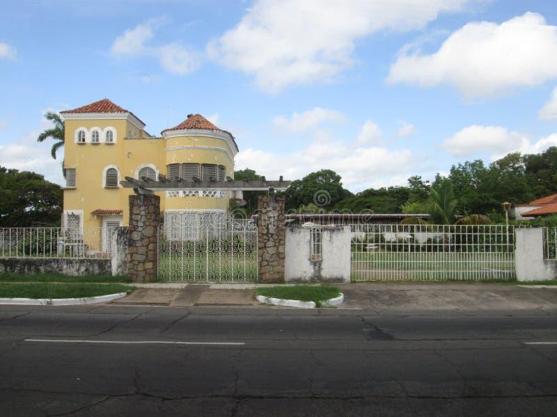 Südamerikanische Architektur, Venezuela Probe des venezolanischen Hauses lizenzfreies stockbild