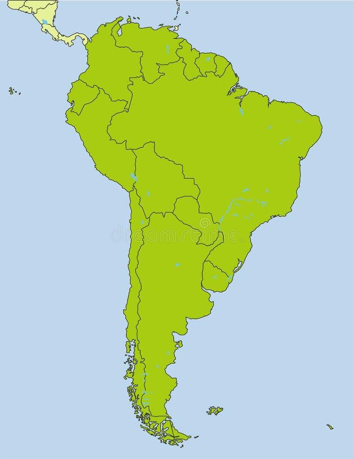 Südamerikanische Länder lizenzfreie abbildung