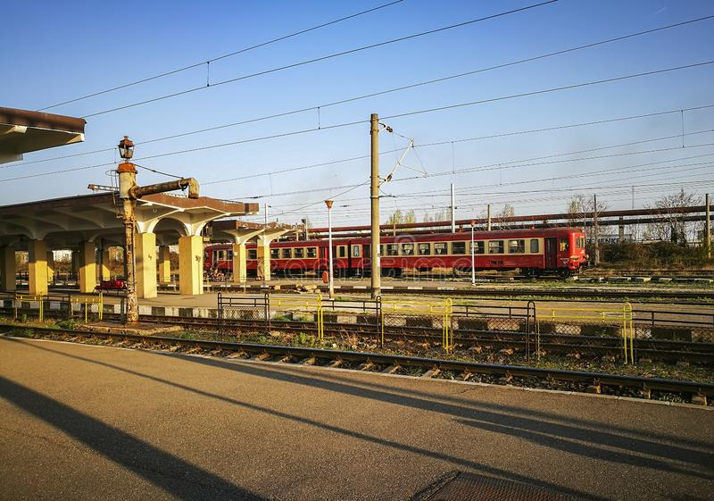 Südbahnhof in Ploiesti-Stadt, Rumänien stockfoto