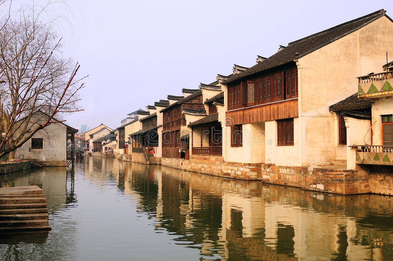 Südchina-Dorflandschaften stockfoto