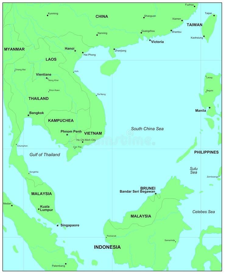Südchina-Meer stock abbildung