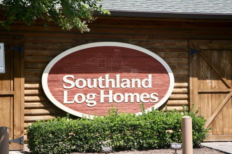 Süden-Klotz-Häuser lizenzfreie stockfotografie