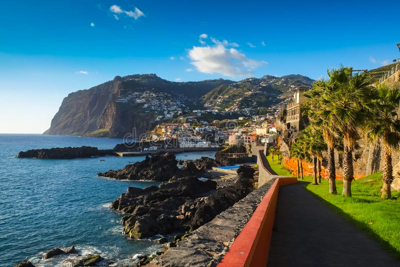 Süden-zentrale Küsten-Ansicht, Madeira lizenzfreies stockfoto