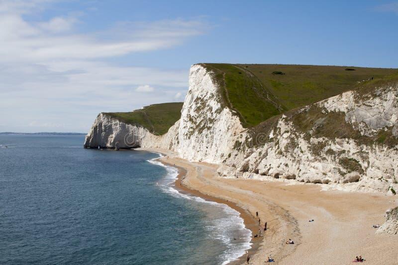 Südküste von England nahe Durdle Tür lizenzfreies stockfoto