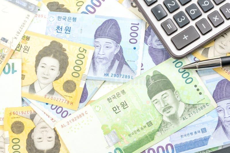 Südkorea gewann Haushaltpläne im unterschiedlichen Wert lizenzfreie stockfotografie
