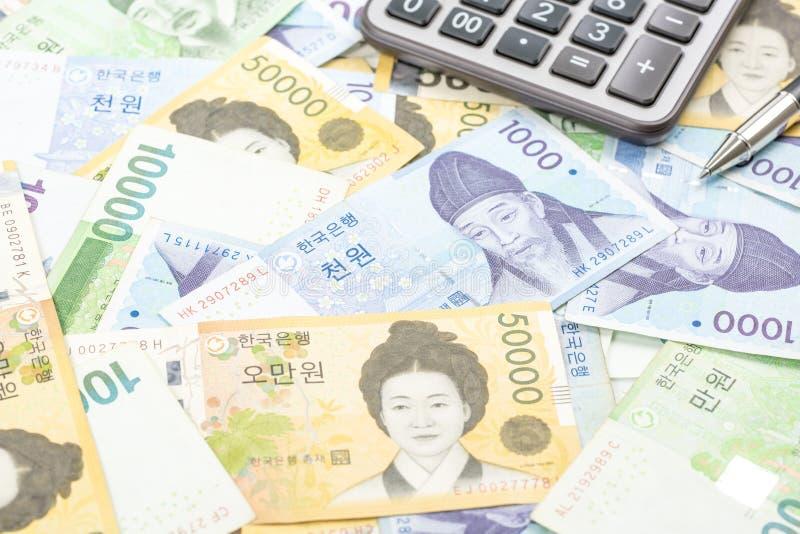 Südkorea gewann Haushaltpläne im unterschiedlichen Wert stockfoto