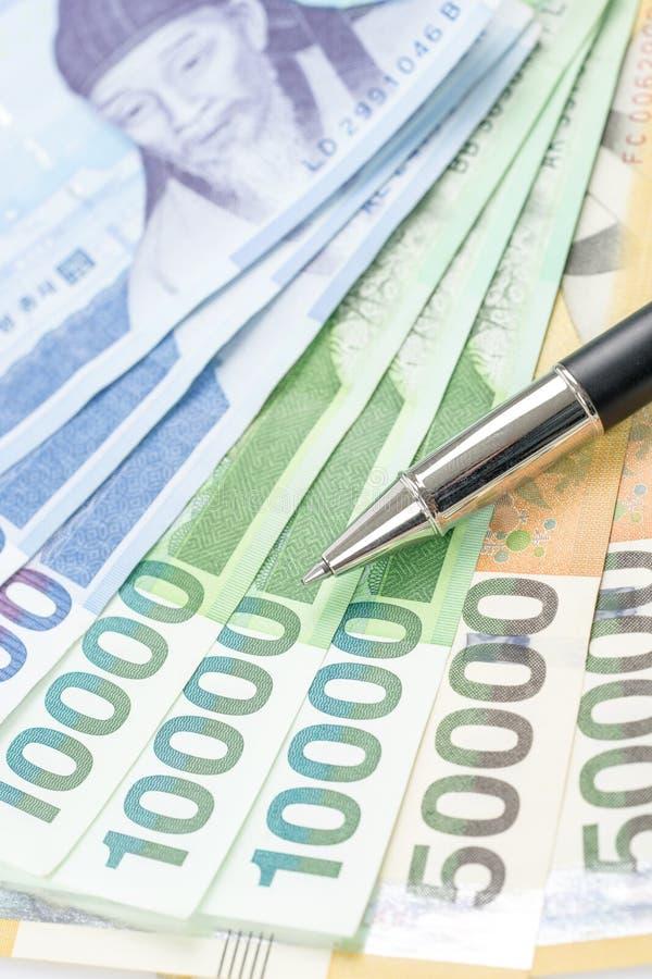 Südkorea gewann Haushaltpläne im unterschiedlichen Wert lizenzfreie stockfotos