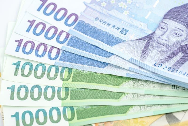 Südkorea gewann Haushaltpläne im unterschiedlichen Wert lizenzfreies stockbild
