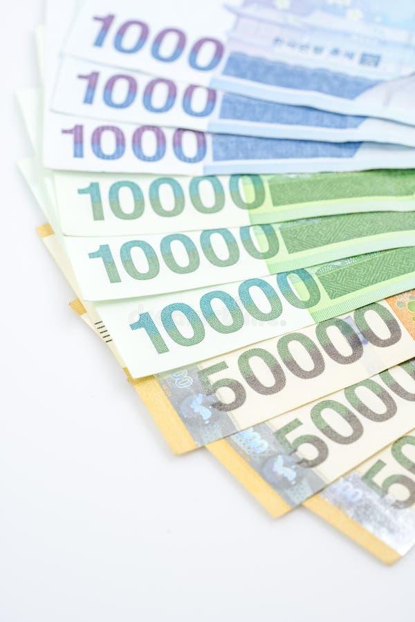 Südkorea gewann Haushaltpläne im unterschiedlichen Wert lizenzfreie stockbilder