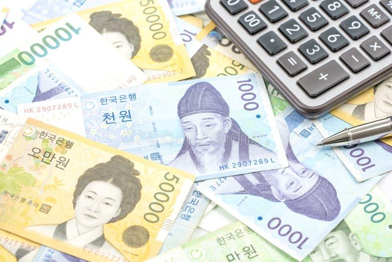 Südkorea gewann Haushaltpläne im unterschiedlichen Wert stockfotografie