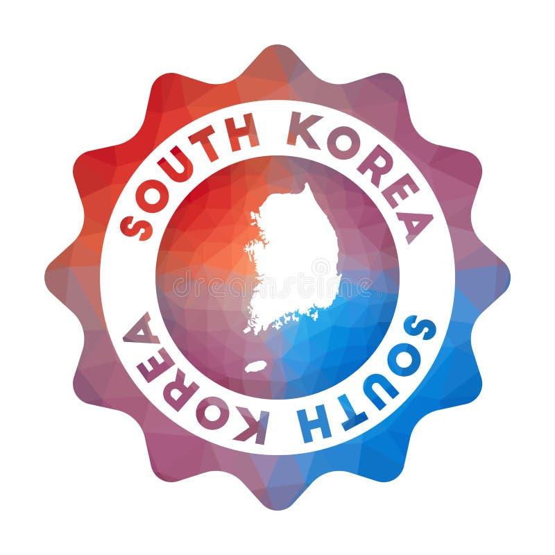 Südkorea-niedriges Polylogo lizenzfreie abbildung