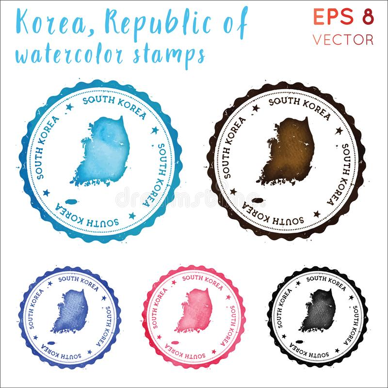 Südkorea-Stempel stock abbildung