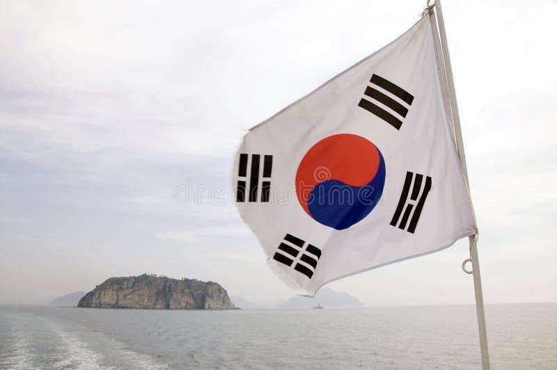 Südkoreanische Markierungsfahne lizenzfreie stockbilder