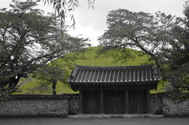 Südkoreanisches Tempel-Tor lizenzfreie stockfotos