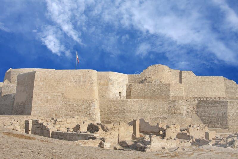 Südliche Seite des Bahrain-Forts lizenzfreies stockbild