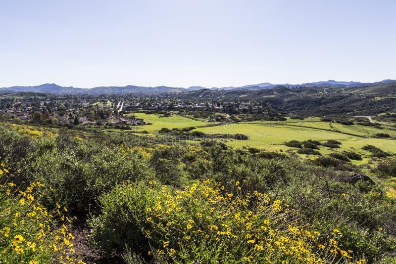 Südlicher Kalifornien-Vorstadtfrühling lizenzfreies stockfoto