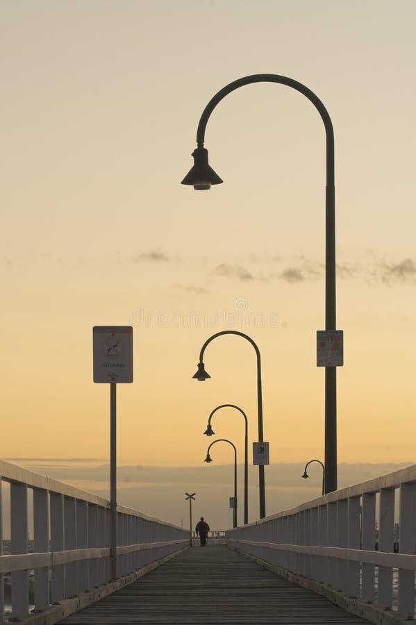 Am Südmelbourne-Pier. stockbild
