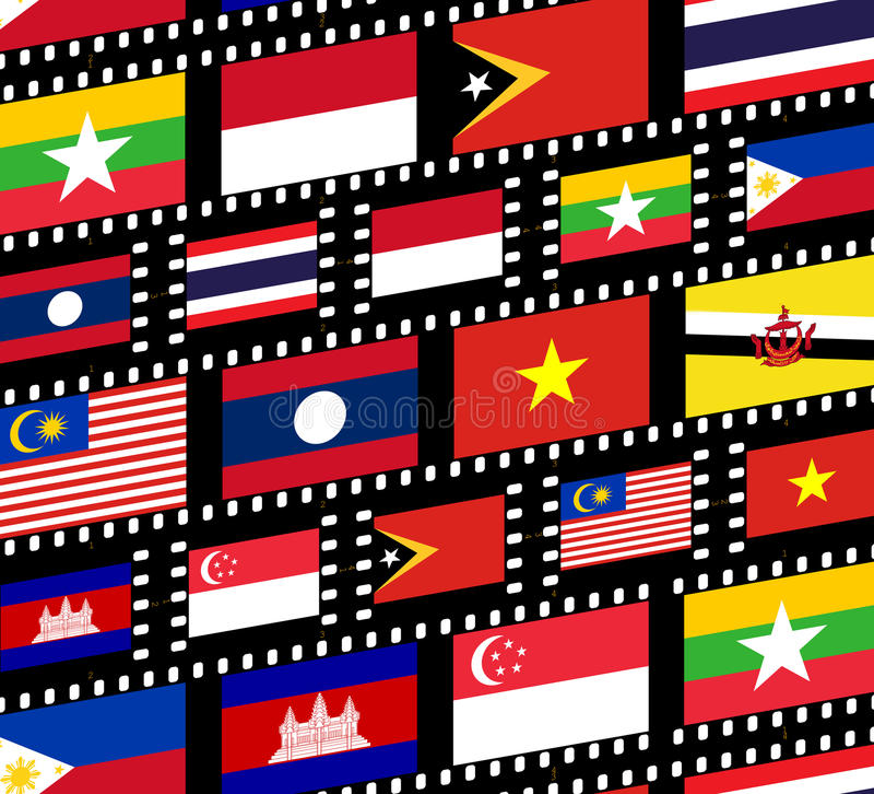 Südostasien vektor abbildung