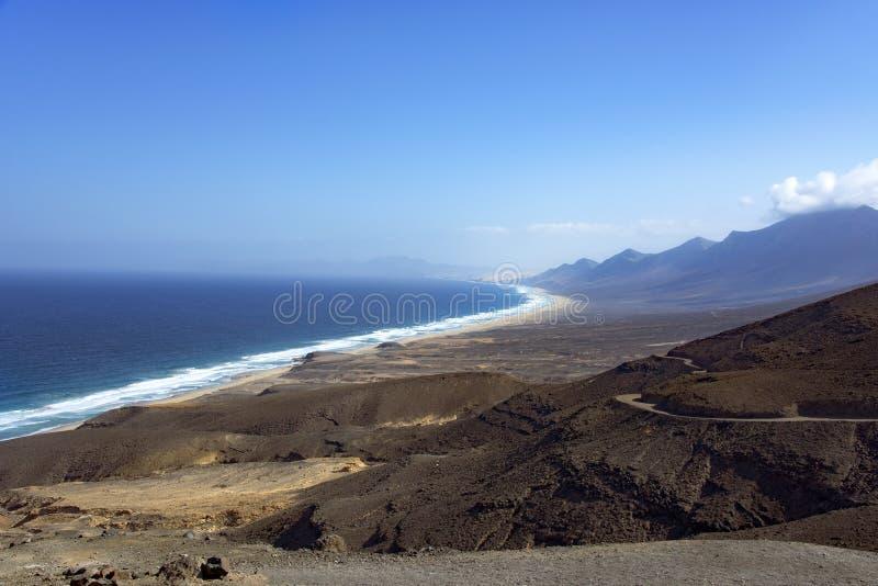 Südwestliche Küste von Fuerteventura, Spanien lizenzfreie stockbilder
