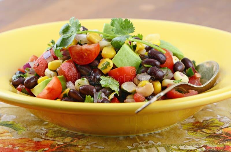Südwestlicher Salat der schwarzen Bohne lizenzfreies stockfoto